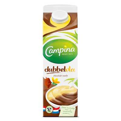 Campina Dubbelvla chocolade-vanille