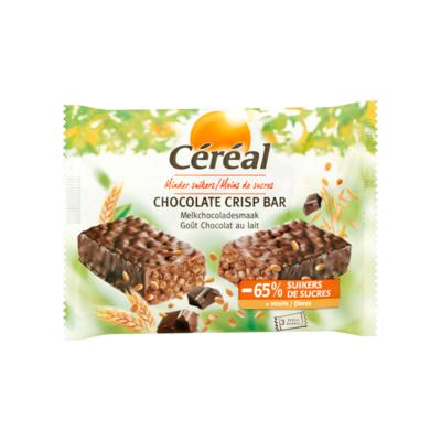Céréal Minder Suikers Chocolate Crisp Bar Melkchocoladesmaak