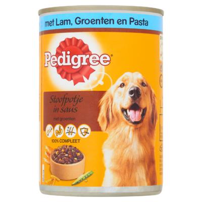 Pedigree Hondenvoer Nat Stoofpotje Lamsvlees, Groenten & Pasta Blik 400 g