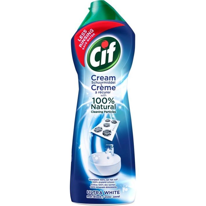 Cif Schuurmiddel ultra white bleek cream