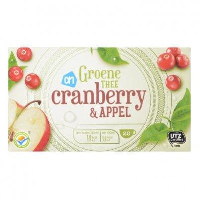 Huismerk Groene thee cranberry & appel