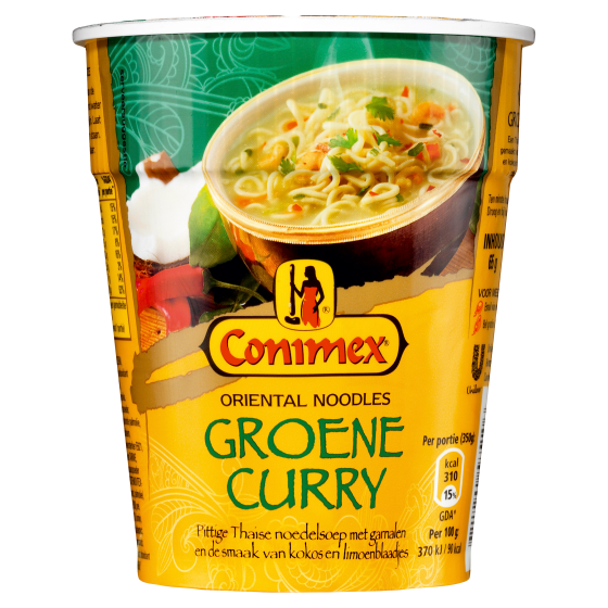 Conimex noodles groene curry 65 gram