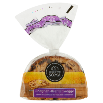 Soma Rozijnen-Krentenwegge TarweRoggebrood