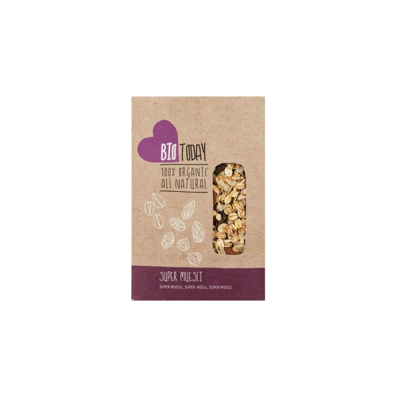 Raw Organic Food Muesli Cacao