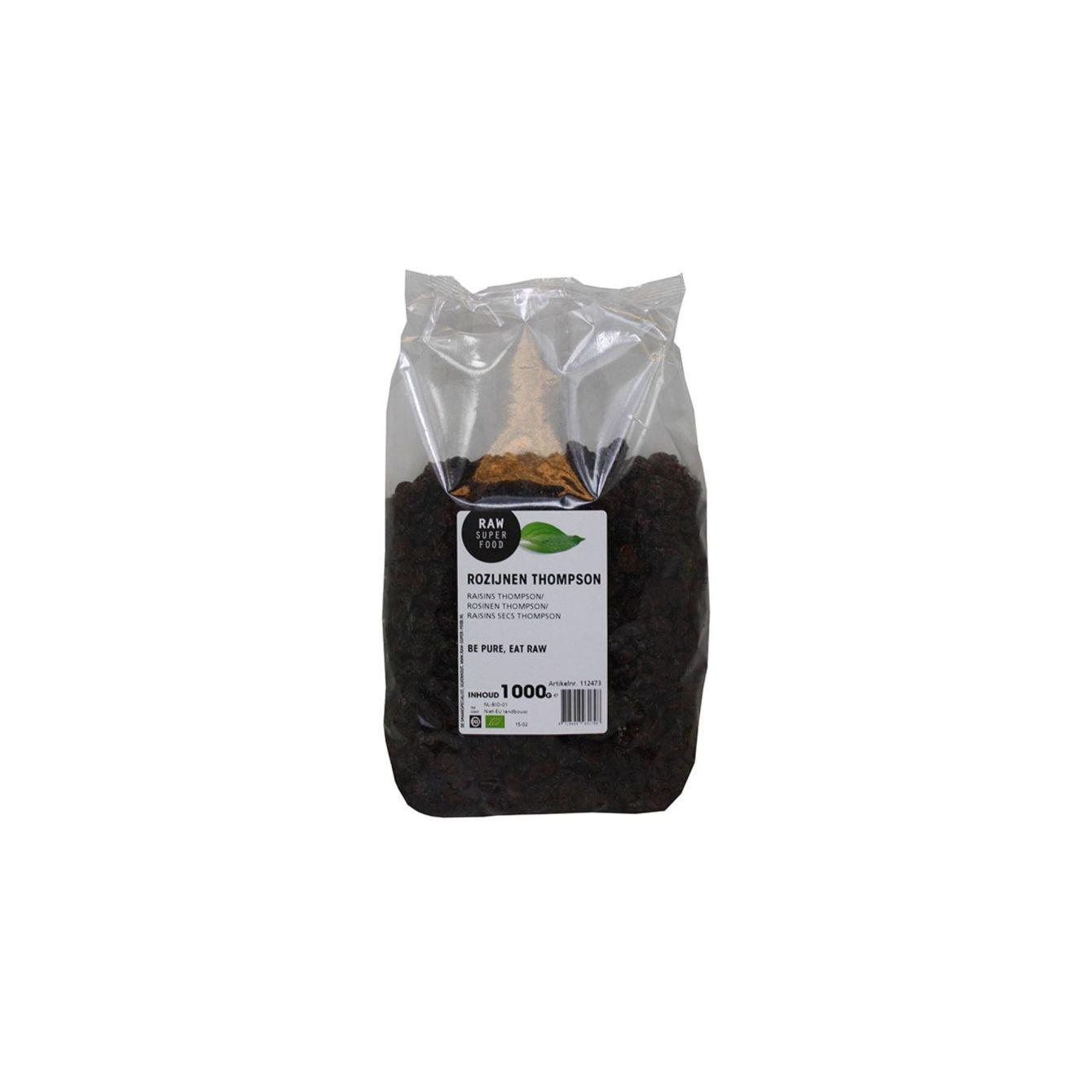 Raw Organic Food Rozijnen Thompson
