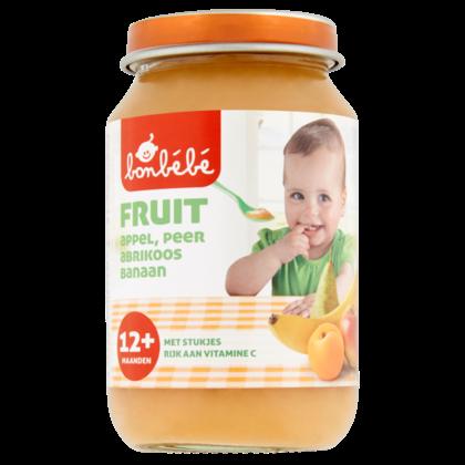 Huismerk 12+ Appel peer abrikoos banaan