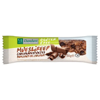 Damhert Mueslireep chocolade glutenvrij
