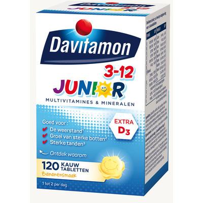 Davitamon Junior kauwtabletten banaan 3-12 jaar