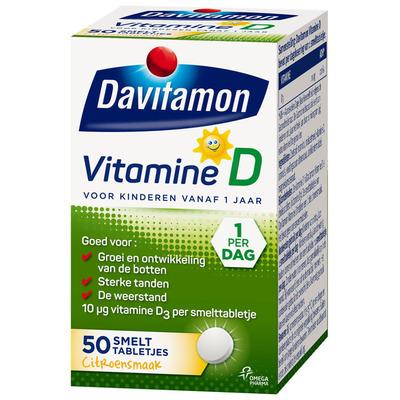 Davitamon Vitamine D smelttabletten vanaf 1 jaar