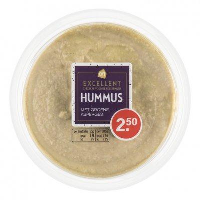 Huismerk Hummus met groene asperges