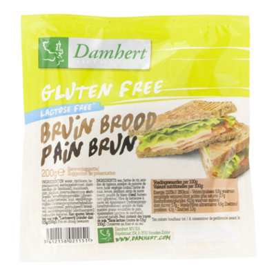 Damhert Glutenvrije bruin brood lactosevrij