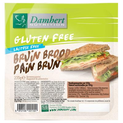 Damhert Bruin brood glutenvrij