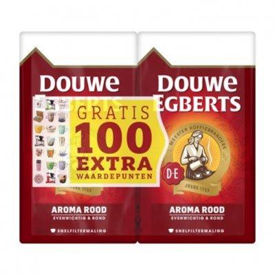 Douwe Egberts Aroma rood dubbelpak filterkoffie