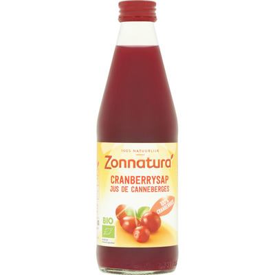 Zonnatura Cranberry sap 100% puur