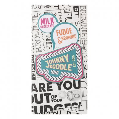 Johnny Doodle Milk chocolate fudge-brownie