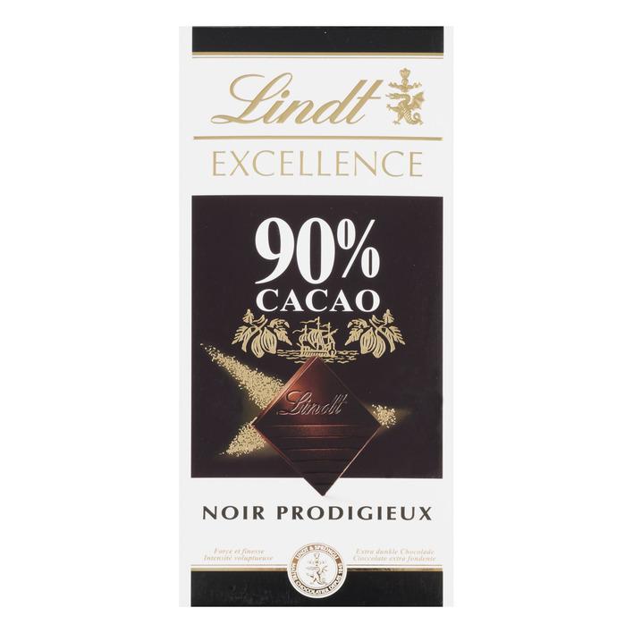 Lindt Excellence dark supreme noir 90%