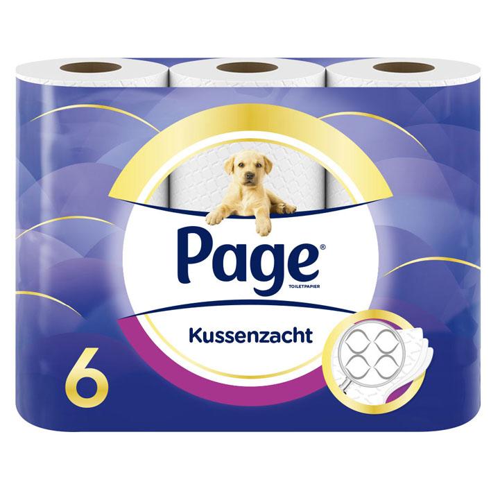 Page Kussenzacht toiletpapier
