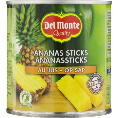 Del Monte Ananassticks op sap