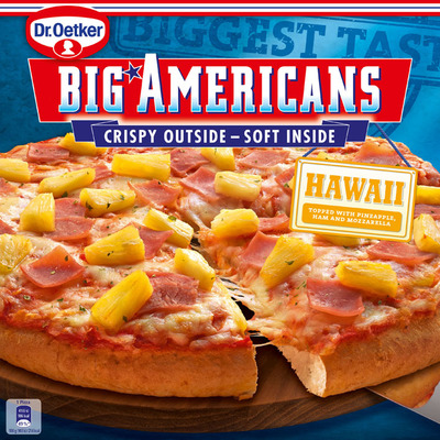 Dr. Oetker Big Americans pizza Hawaii