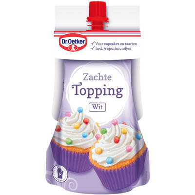 Dr. Oetker Zachte topping wit