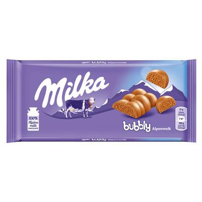 Milka Reep bubbly met luchtbellen
