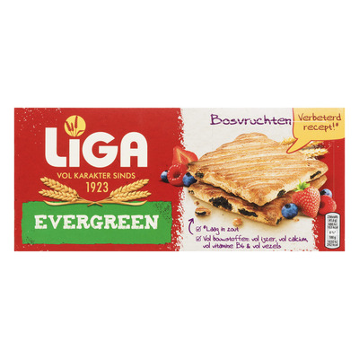 Liga Evergreen biscuits bosvruchten