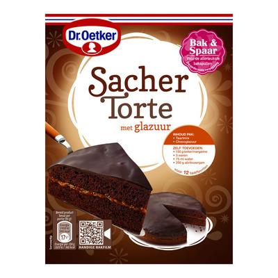 Dr. Oetker Sacher torte met glazuur