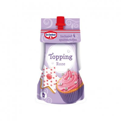 Dr. Oetker Topping roze