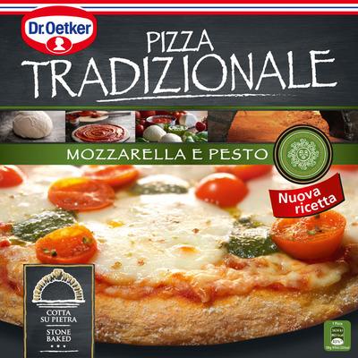 Dr. Oetker Pizza tradizionale mozzarella e pesto