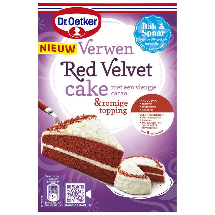 Dr. Oetker Verwen red velvet cake