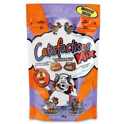 Catisfactions Kattensnacks mix kip & eend
