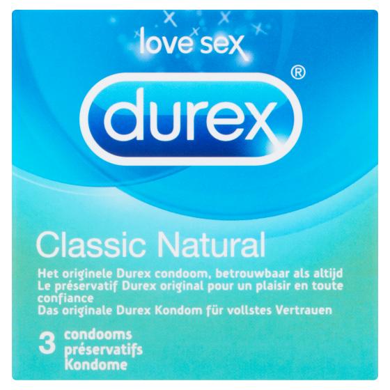 Durex classic Natural Condooms 3 stuks