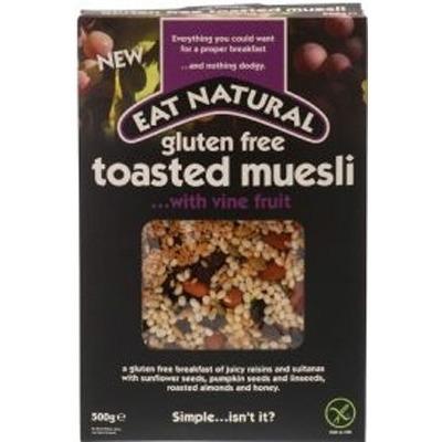Eat Natural Glutenvrij Krokant Geroosterde Ontbijtgranen met Rankfruit