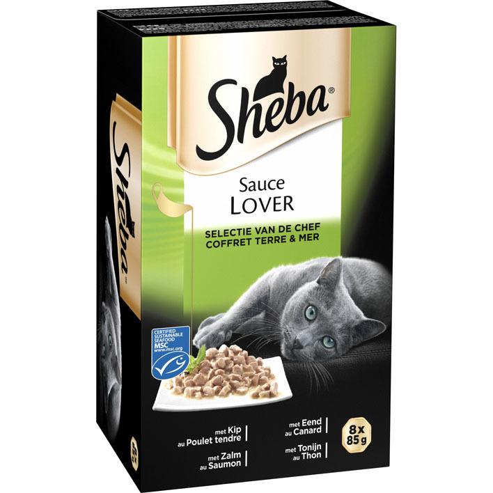 Sheba Kattenvoer nat selectie van de chef