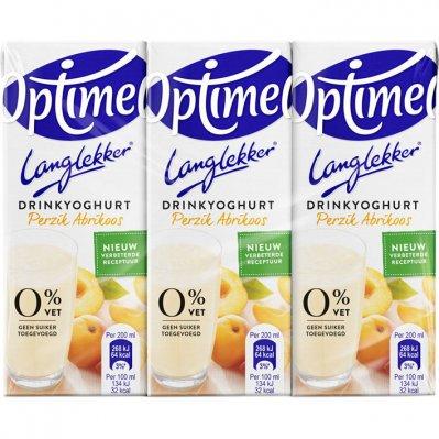 Optimel Langlekker drinkyoghurt perzik abrikoos