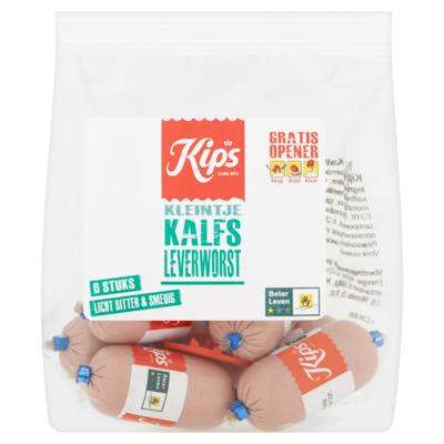Kips Kleintje Kalfs Leverworst 6 x 20 g