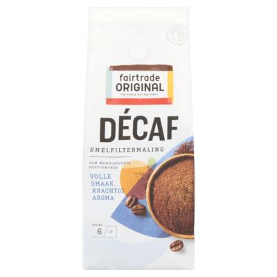 Fairtrade Original Décaf Koffie Snelfiltermaling 250 g