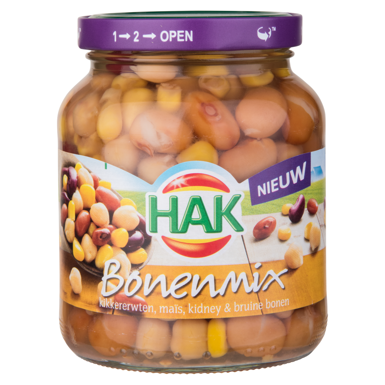 Hak Bonenmix kidney, bruine & witte bonen