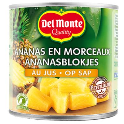 Del monte Ananas blokjes op sap