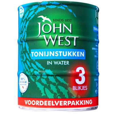 John West Tonijnstukken water