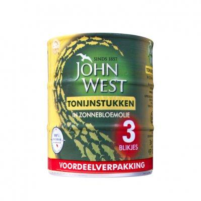John West Tonijnstukken in zonnebloemolie