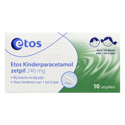Huismerk Kinderparacetamol zetpillen 240 mg