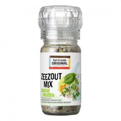 Fairtrade Original Kruidenmolen zeezout- groene kruiden