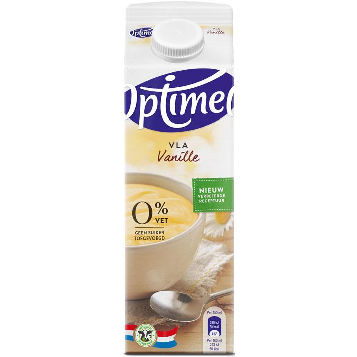Optimel Magere vla vanille 0% vet