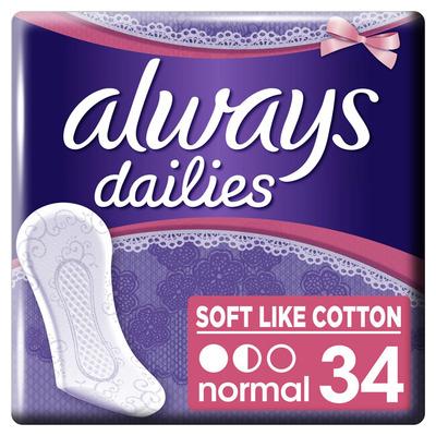 Always Dailies soft like cotton inlegkruisjes
