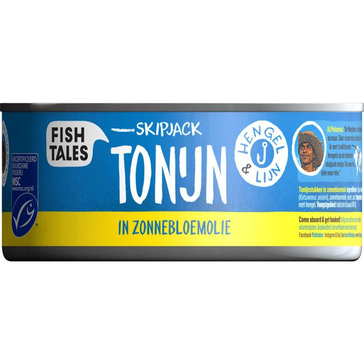 Fish Tales Skipjack tonijn in zonnebloemolie