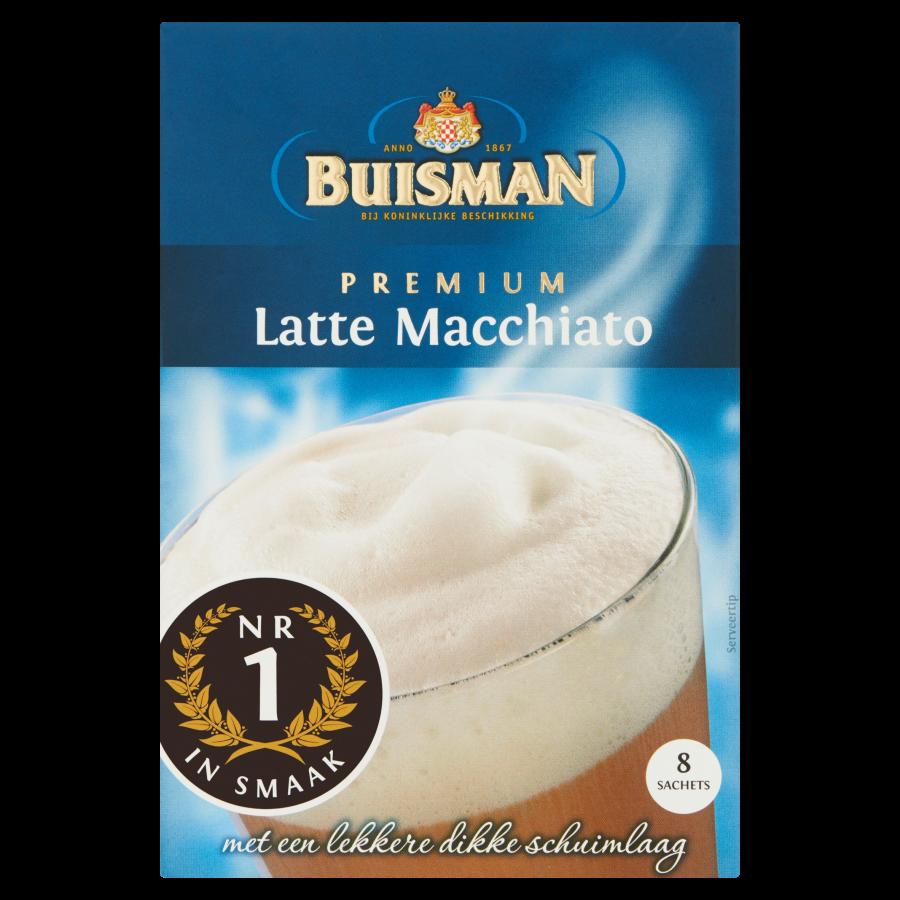 Buisman Oploskoffie portieverpakking latte macchiato