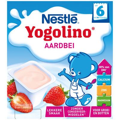 Nestlé Yogolino aardbei 6+ mnd baby toetje