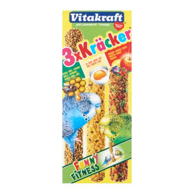 Vitakraft 3 x Kräcker voor Grasparkieten