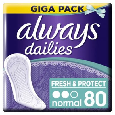 Always Dailies fresh & protect inlegkruisjes